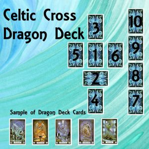 The Celtic Cross using the dragon deck