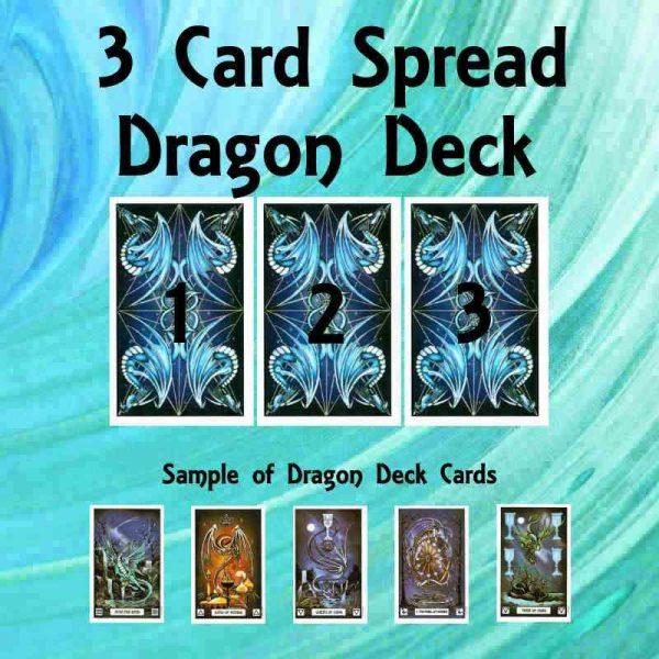 Three card spread Dragon deck
