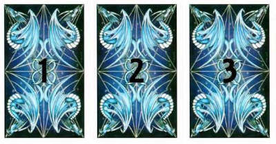 3 cards lined up