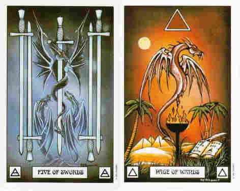 Five of Swords, Page Wands Dragon Deck